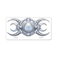 Triple Goddess - shield Aluminum License Plate