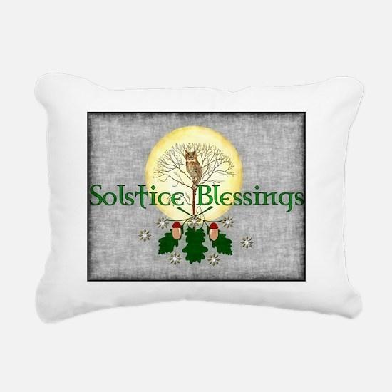 Solstice Blessings Rectangular Canvas Pillow