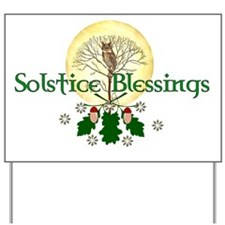 Solstice Blessings Yard Sign