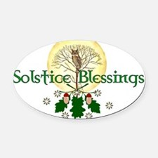 Solstice Blessings Oval Car Magnet