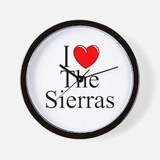 """I Love The Sierras"" Wall Clock"