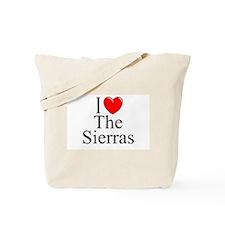 """I Love The Sierras"" Tote Bag"