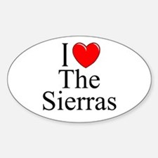 """""""I Love The Sierras"""" Oval Decal"""