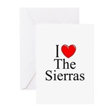 """""""I Love The Sierras"""" Greeting Cards (Pk of 10)"""