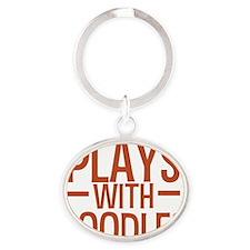 playspoodles Oval Keychain