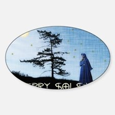 Merry Solstice Sticker (Oval)