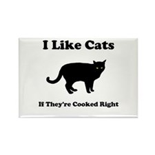 Cat Cooked Right Rectangle Magnet