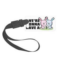 Gender reveal bunny Luggage Tag