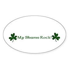 My Shams Rock! Oval Decal