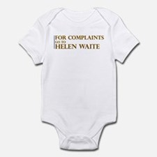 For Complaints Go to Helen Wa Onesie