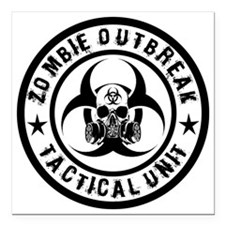 "zombie outbreak tactical Square Car Magnet 3"" x 3"""