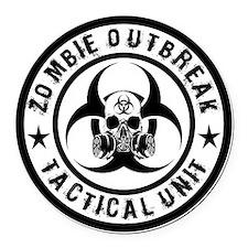 zombie outbreak tactical unit Round Car Magnet