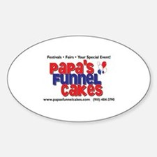 Papa's Funnel Cakes Oval Decal