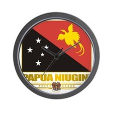 Papua New Guinea (Flag 10)2 Wall Clock