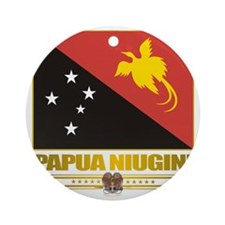 Papua New Guinea (Flag 10)2 Round Ornament