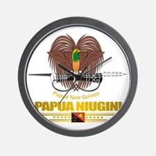 Papua New Guinea COA (Flag 10)2 Wall Clock