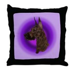 Brindle Great Dane Throw Pillow