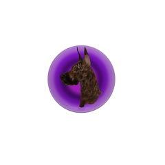 Brindle Great Dane Mini Button (100 pack)