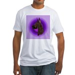 Brindle Great Dane Fitted T-Shirt