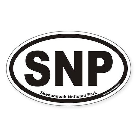 Shenandoah National Park SNP Euro Oval Sticker