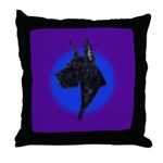 Black Great Dane Throw Pillow