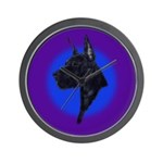 Black Great Dane Wall Clock