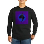 Black Great Dane Long Sleeve Dark T-Shirt