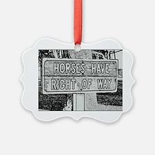 horsesthesigncloseupTHEONE Ornament
