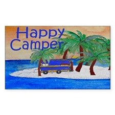 Island Palms Happy Camper Decal