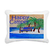 Island Palms Happy Campe Rectangular Canvas Pillow