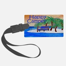 Island Palms Happy Camper Luggage Tag