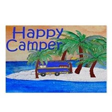 Island Palms Happy Camper Postcards (Package of 8)