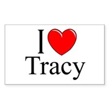 """""""I Love Tracy"""" Rectangle Decal"""