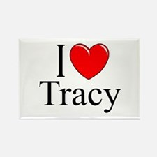 """I Love Tracy"" Rectangle Magnet"
