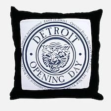 detop_blue Throw Pillow