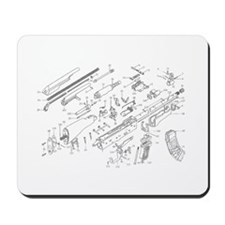 AK 47 Exoloded view Mousepad