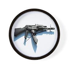 Shaded AK 47 Wall Clock