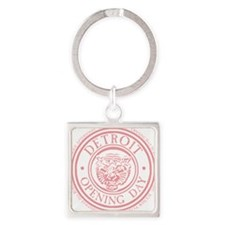 detop_pink Square Keychain
