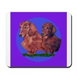 Long Haired Dachshunds Mousepad