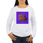 Long Haired Dachshunds Women's Long Sleeve T-Shirt