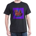 Long Haired Dachshunds Dark T-Shirt
