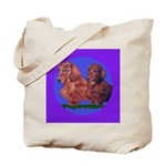 Long Haired Dachshunds Tote Bag