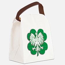 Irish Polish Shamrock Eagle Canvas Lunch Bag