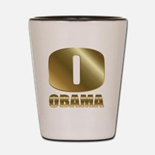 o obama circle 1 Shot Glass