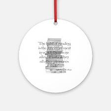 pleasure of reading Round Ornament