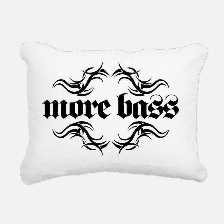 MOREBASSFRONTwh copy Rectangular Canvas Pillow