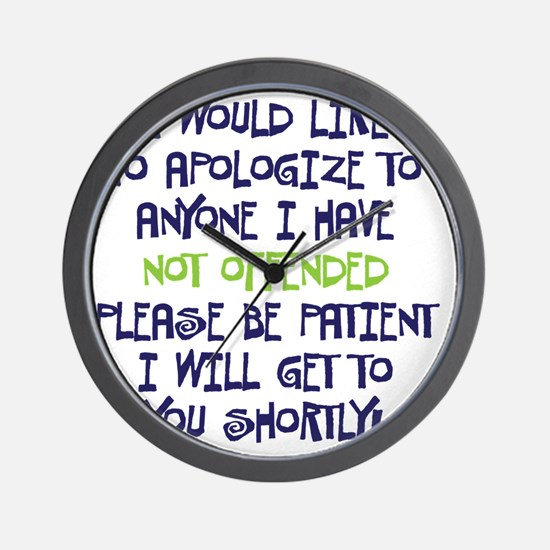 NOTFFENDED copy Wall Clock