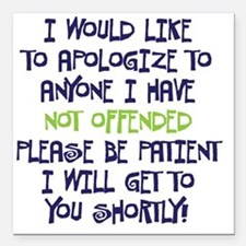 """NOTFFENDED copy Square Car Magnet 3"""" x 3"""""""