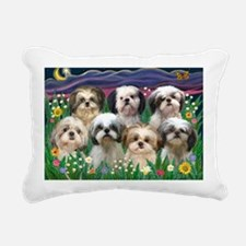 8x10-7 SHIH TZUS-Moonlig Rectangular Canvas Pillow