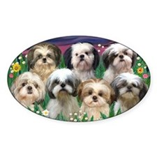 8x10-7 SHIH TZUS-Moonlight Garden Decal
